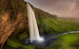 Random: Seljalandsfoss Waterfall Cliff