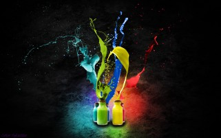 Colorful Bottles Abstract wallpapers and stock photos