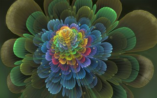 Random: Colorful Fractal Blossom