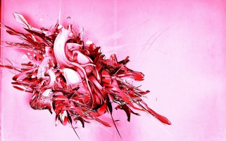 Random: Pink Heart Plexus Abstract