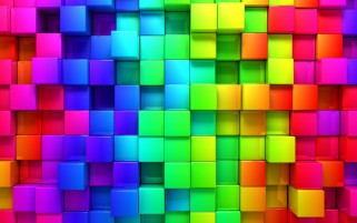 Random: Blocks Rainbow Abstract