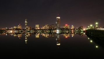Boston at Night wallpapers and stock photos