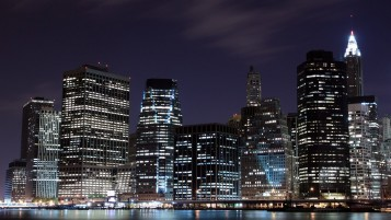 Night in New York City wallpapers and stock photos