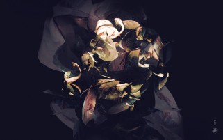 Random: Paper Rose Dark Abstract