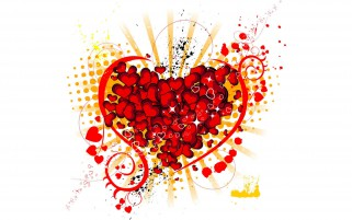 Red Hearts Splash Abstract wallpapers and stock photos