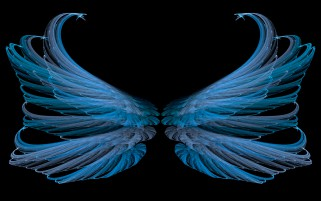 Random: Blue Wings Glamorous Abstract