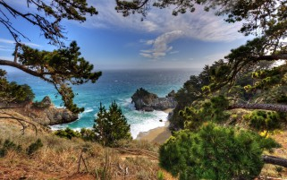 Big Sur California Lookout wallpapers and stock photos