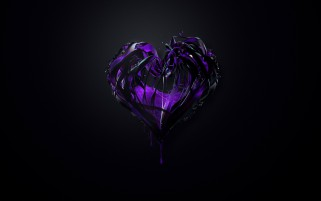 Random: Purple Heart Plexus Abstract