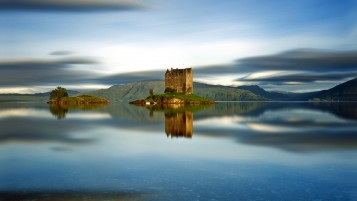 Castle Stalker Scotland wallpapers and stock photos