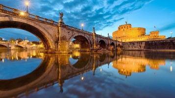 View of Saint Angelo Bridge wallpapers and stock photos