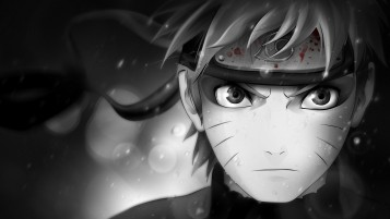 Naruto Black and White wallpapers and stock photos