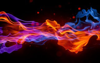 Fuego y Agua Humo wallpapers and stock photos