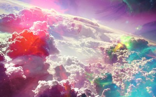 Clouds Lights Sky Charming wallpapers and stock photos
