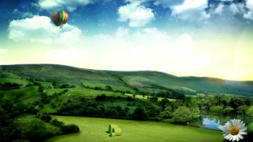 Random: Hot Air Ballon & Pretty Nature