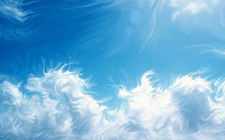Random: Fluffy Clouds Abstract