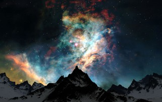 Random: Snow Mountains Stars Colorful