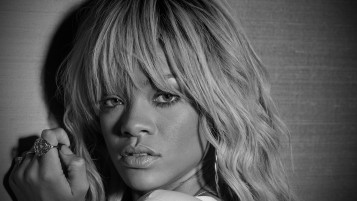 Rihanna Black and White Close-up wallpapers and stock photos