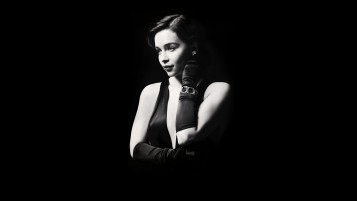 Emilia Clarke Little Black Dress wallpapers and stock photos