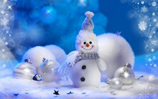 Snowman New Year Holiday wallpapers and stock photos