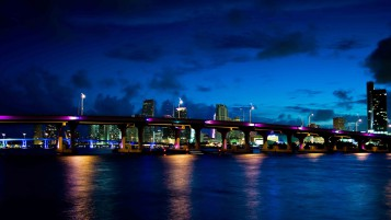 Miami Night wallpapers and stock photos