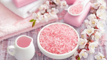 Spa Pink Salt wallpapers and stock photos