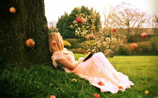 Apple Princess Dreaming wallpapers and stock photos