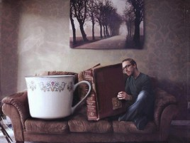 Cup Of Tea & Book wallpapers and stock photos