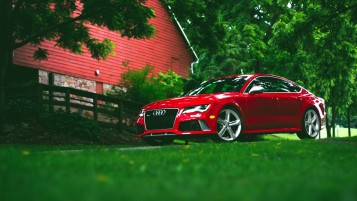 Red Audi RS7 wallpapers and stock photos