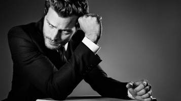 Jamie Dornan Black and White Close-up wallpapers and stock photos