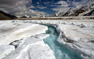 Fast River Ice Cold wallpapers and stock photos