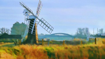 Windmill Painting wallpapers and stock photos