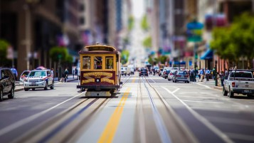 San Francisco Village Tram wallpapers and stock photos