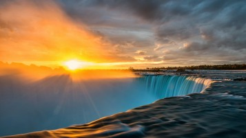 Niagara Sunrise wallpapers and stock photos