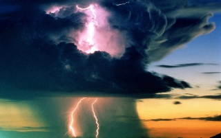 Storm in Sunset wallpapers and stock photos