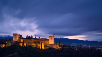 Granada bei Nacht wallpapers and stock photos