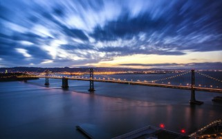 San Francisco Evening Lights wallpapers and stock photos