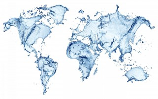 Random: World Maps Water Abstract