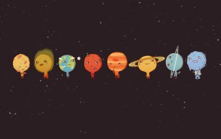 Solar System Funny Planets wallpapers and stock photos