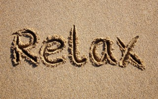 Relax Sand Write wallpapers and stock photos