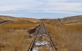 Rail Way Grass Hills Fences wallpapers and stock photos