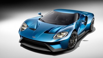 Blue Ford GT Studio wallpapers and stock photos