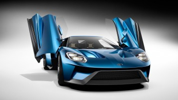 Random: Blue Ford GT 2016 with Doors Open