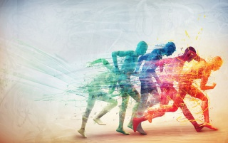 Person Running Speed Vector wallpapers and stock photos