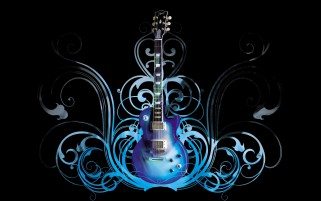 Patrón Guitarra Estilo Azul wallpapers and stock photos