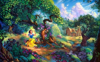 Snow White & Beautiful Wood wallpapers and stock photos