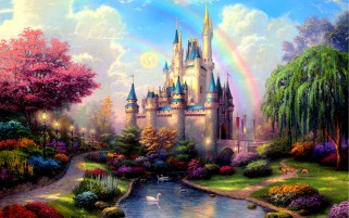 Cinderella's Castle Two wallpapers and stock photos