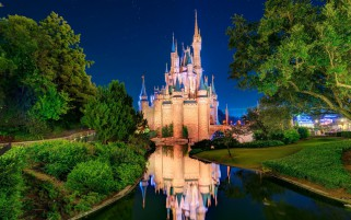 Cinderella's Castle Three wallpapers and stock photos