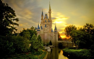 Cinderella's Castle One wallpapers and stock photos