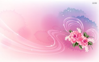 Pink Roses & Lucent Ribbon wallpapers and stock photos
