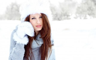 Girl Winter Snow wallpapers and stock photos